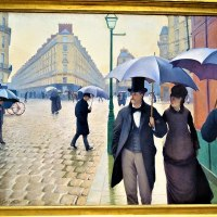 """Paris Street, Rainy Day"" by Gustave Caillebotte"