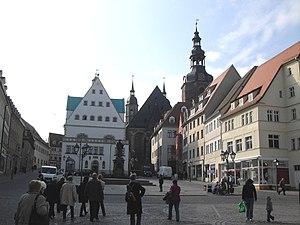 English: city centre of Eisleben, Saxony-Anhal...
