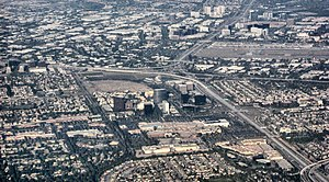 English: Aerial view of central Orange County ...