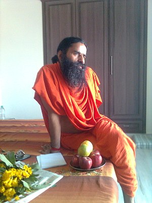 English: Photo of Baba Ramdev taken by me whil...