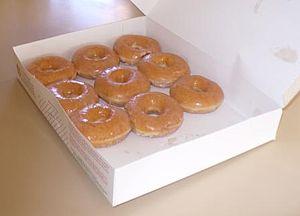 English: A box of Krispy Kreme Original Glazed...