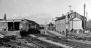 English: Bridport Station View northward, towa...