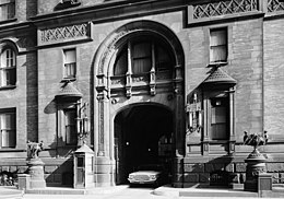 Archival Photograph Of The Main Entrance