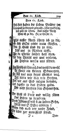 A page of ornate old German text. See description.