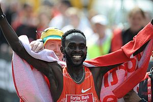Duncan Kibet at the 2009 Rotterdam marathon