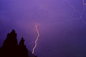 Cloud to ground Lightning strike near Trento, ...