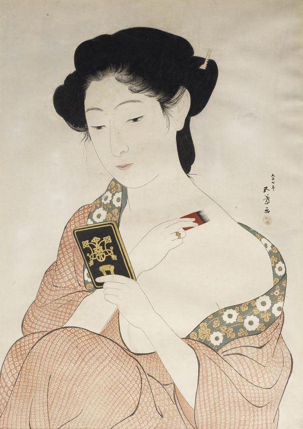 Hashiguchi Goyo - Woman Powdering Her Neck - Walters 95875