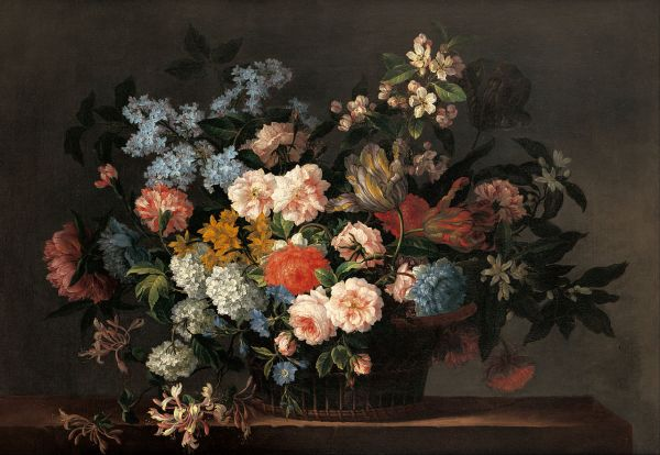Painting Still Life with Flowers