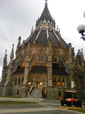 Library at Parliament Hill in Ottawa