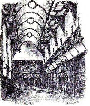 English: The Hall of the London Charterhouse. ...
