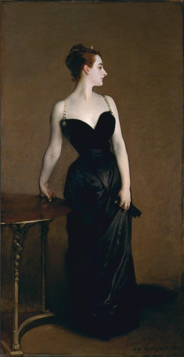 Madame X (Madame Pierre Gautreau), John Singer Sargent, 1884 (unfree frame crop)