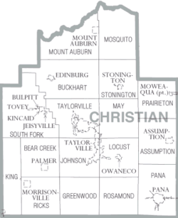 Map of Christian County, Illinois
