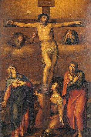 Copia desde la Crucifixion dibujada hacia 1540...