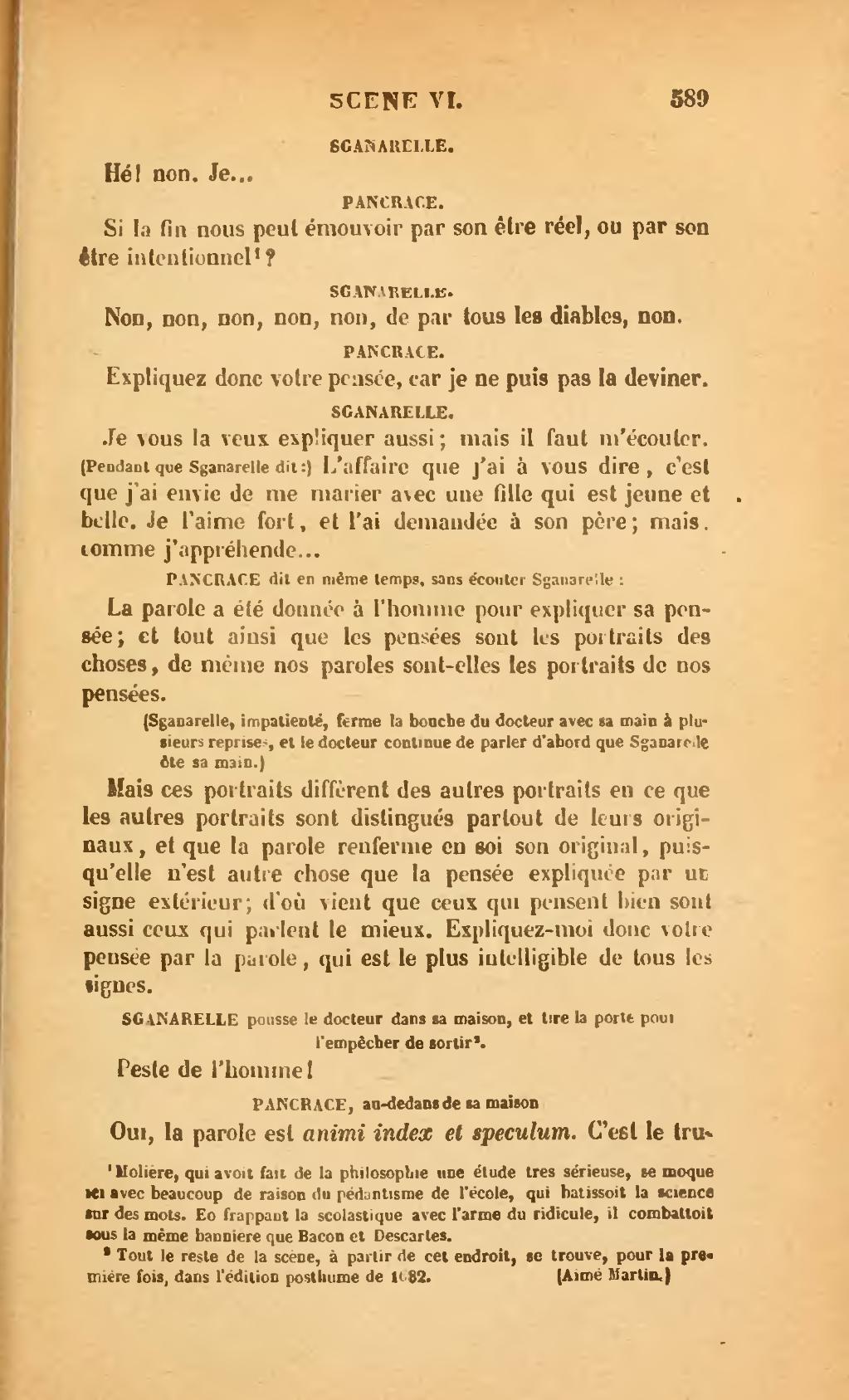 La Parole Est Dans Le Pré : parole, Page:Molière, Édition, Louandre,, 1910,, 1.djvu/691, Wikisource