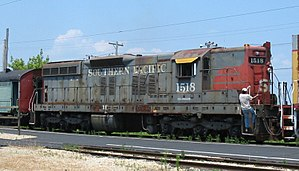 SP 1518, the first EMD SD7 built.