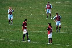 San Lorenzo durante el partido final del Clausura 2007.