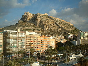 View of Alicante (Spain), with the mountain of...