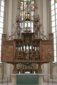 Holy Blood Altar by Tilman Riemenschneider in Rothenburg ob der Tauber