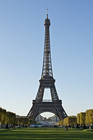 Eiffel Tower, from Champ-de-Mars, Paris.