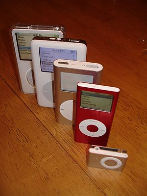 A stack of the iPods I now own... included are...