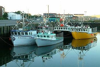 Barcos de pesca en Yarmouth, NS