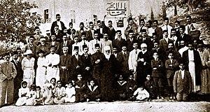 English: In Haifa, Palestine: Abdu'l-Baha on M...