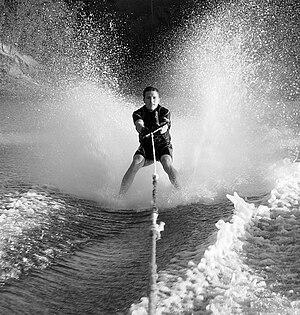 Ryan Jergensen bare footing on Lake Berryessa ...