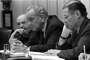 Secretary of State Dean Rusk, President Lyndon...