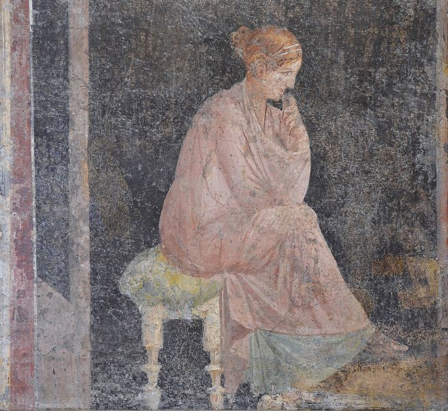 FileFresco Depicting A Seated Woman From The Villa