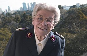 English: General Eva Burrows, at The Australia...