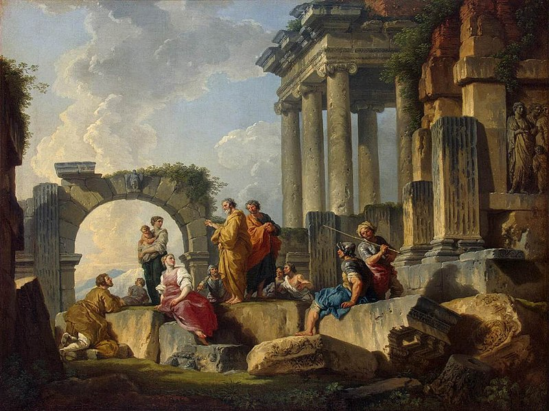 File:Giovanni Paolo Pannini - Apostle Paul Preaching on the Ruins - WGA16977.jpg