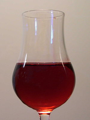 a glass of Grenadine