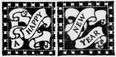Happy New Year scrolls from Dege and Milner (1912)