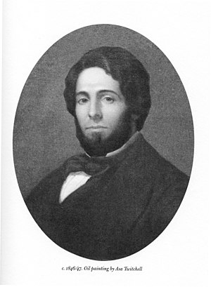English: Oil Painting of Herman Melville in 18...