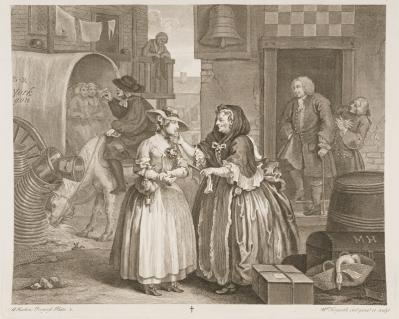 Hogarth 18th century print authentic historical costume