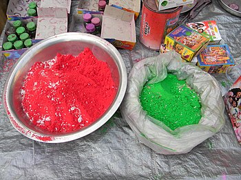 Holi Colors at a street shop at Deanesh Skeikh...