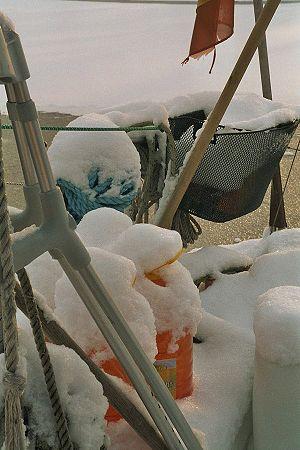 Image-Image-Boote unter Schnee - Nr 3