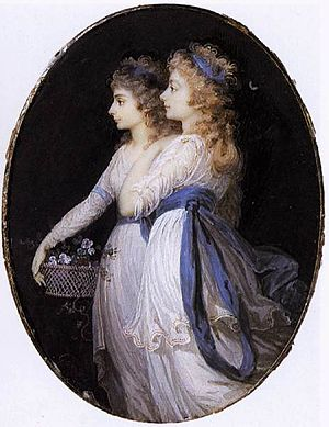 Georgiana, Duchess of Devonshire, with Lady El...