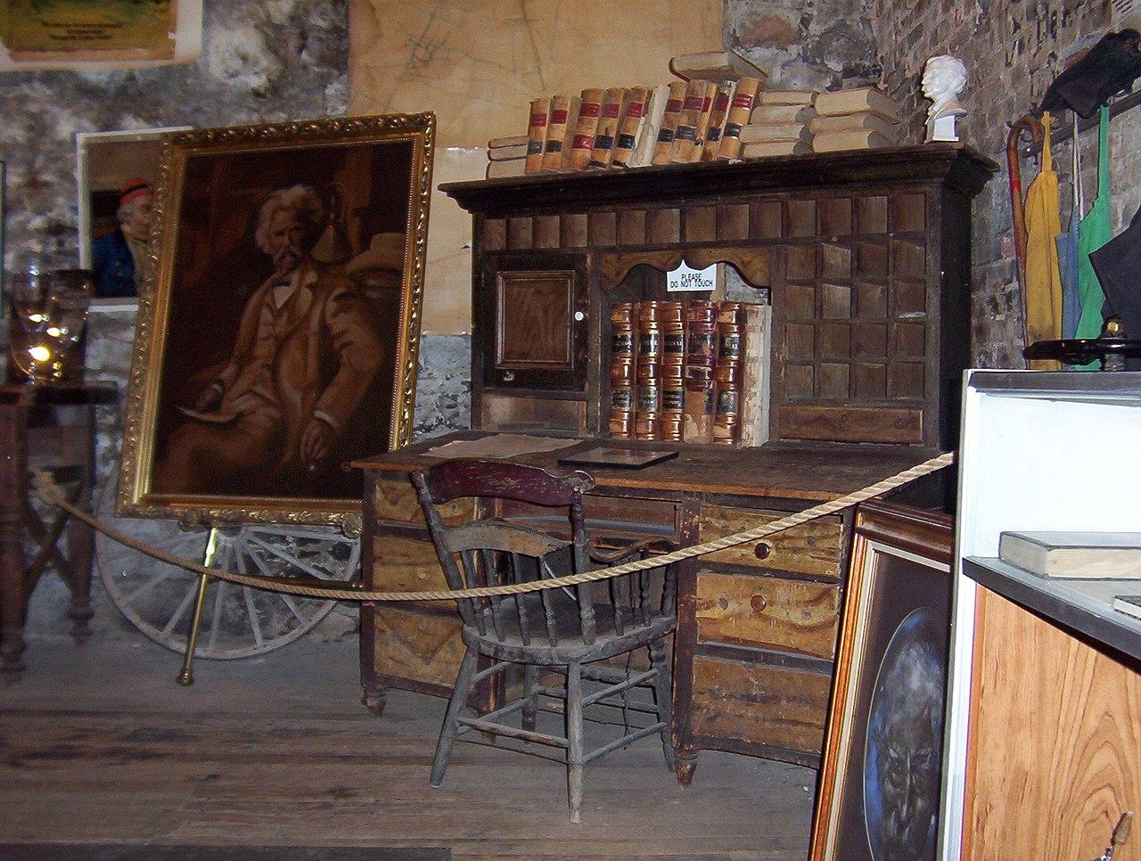 FileMark Twains desk at the Mark Twain Territorial