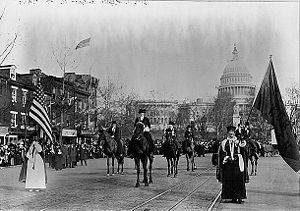 English: Members of the National American Wome...
