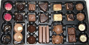 Pralines in a box