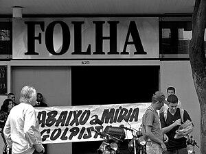 "Protesto contra a ""Folha de S. Paulo""..."