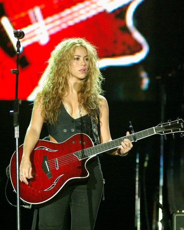Shakira with Her Guitar