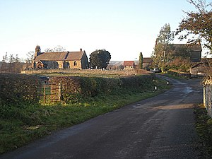The church at Halford, near to Halfor...