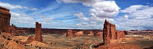 English: Tower of Babel in Arches National Par...