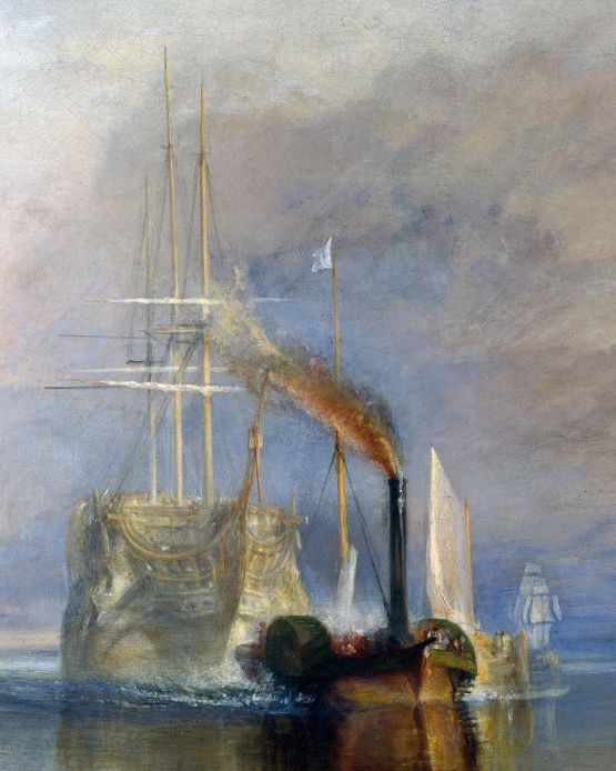 Turner, J. M. W. - The Fighting Téméraire tugged to her last Berth to be broken (cropped)