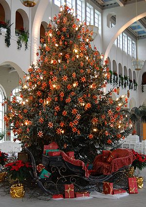 Christmas tree in Bad Kissingen (2008)