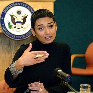 Iraqi-American writer and activist Zainab Salb...