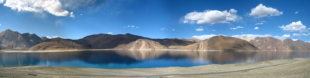 Mountain View Wallpaper Hd File A Panoramic View Of The Pangong Tso Lake In Ladakh
