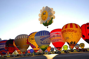 Mondial Air Ballons 2007 festival in Chambley/...
